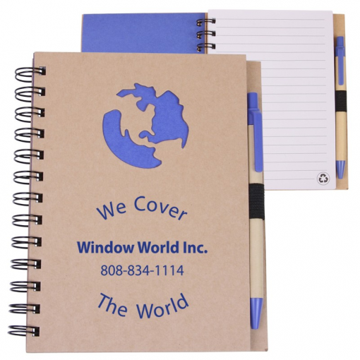 EcoShapes™ Recycled Die Cut Notebook (Globe)
