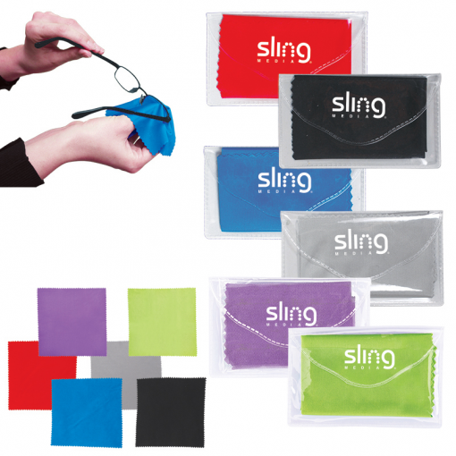 Microfiber Cleaner Cloth in Pouch