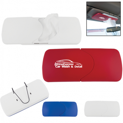 Refillable Visor Tissue Holder
