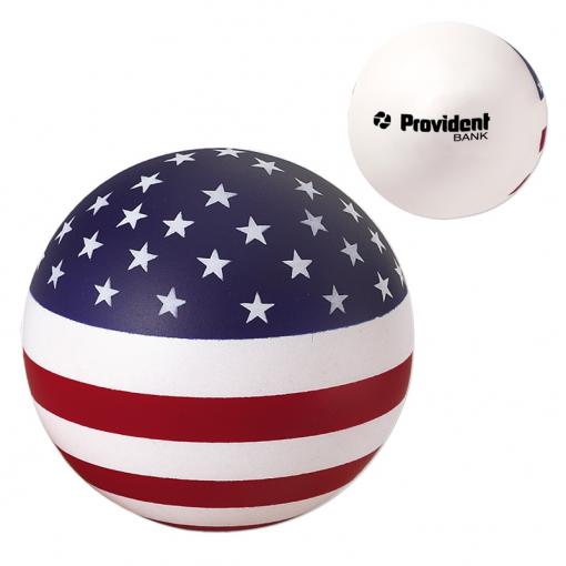 USA Patriotic Round Ball Stress Reliever