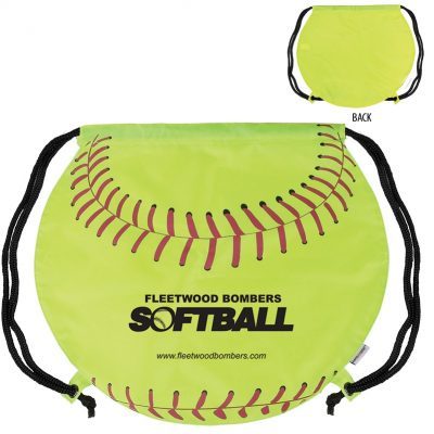 GameTime!® Softball Drawstring Backpack Bag