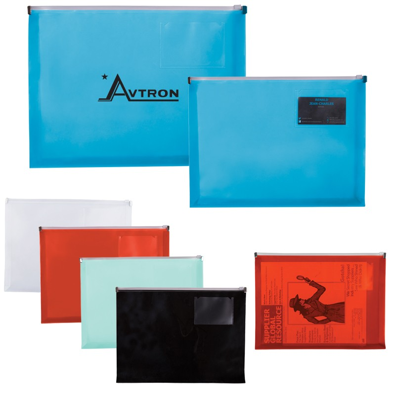 Zip closure envelope with business card slot jetline swag zip closure envelope with business card slot reheart Gallery