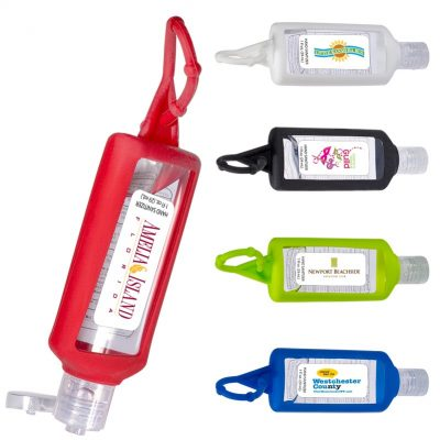 1 Oz. Hand Sanitizer w/Silicone Holder