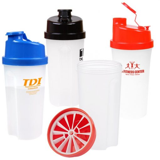 20 Oz. Plastic Fitness Shaker w/Measurement
