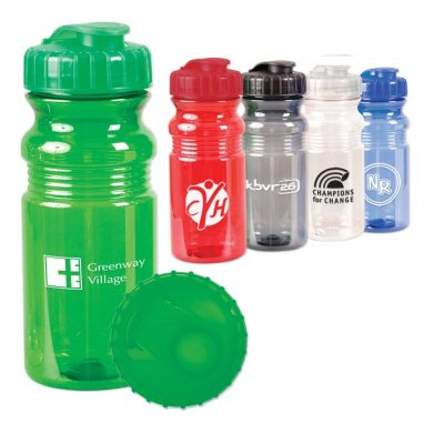 20 Oz. Translucent Sport Bottle w/Snap Cap
