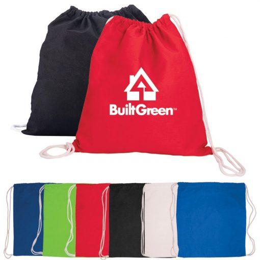 5 Oz. Cotton Drawstring Cinch-Up Backpack