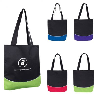 Color Curve Accent Panel Tote