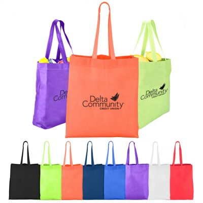 Heat Sealed Non-Woven Value Tote w/Gusset