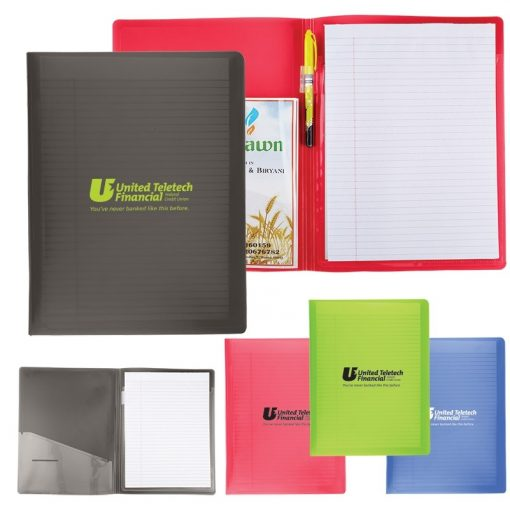 Letter Size Folder w/Writing Pad