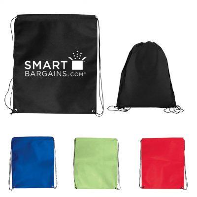 Jumbo Non-Woven Drawstring Cinch-Up Backpack