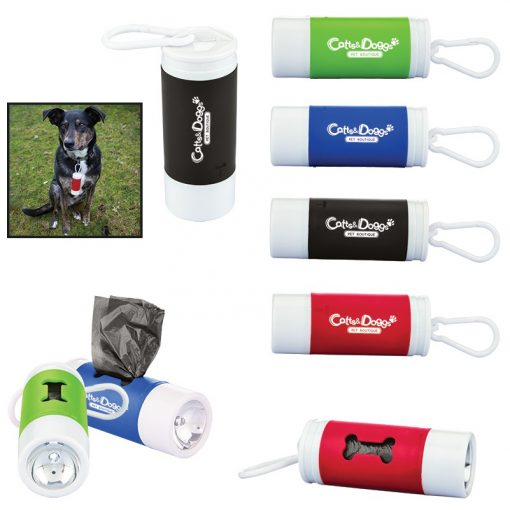 Pet Waste Bag Dispenser w/Flashlight
