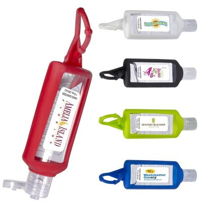 Hand Sanitizer w/Silicone Holder - 1 Oz.