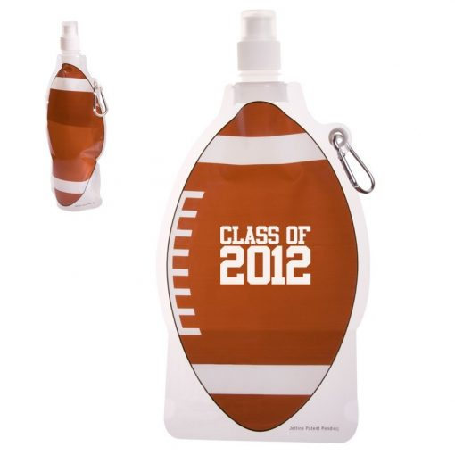HydroPouch!™ 22 Oz. Football Collapsible Water Bottle