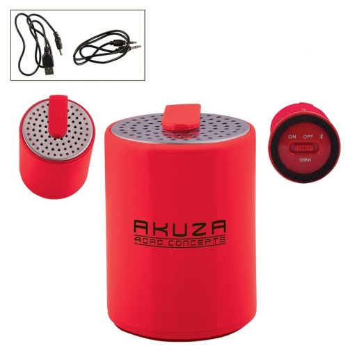 Round Plastic Mini Wireless Speaker